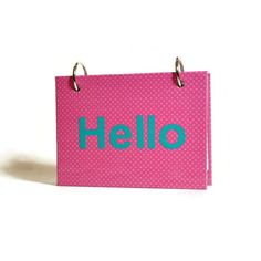 What do you want to say? New personalized index card binders customized for you A design by ArtBySunfire