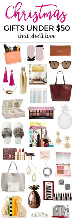 The best Christmas gift ideas for women under $50! You won't want to miss this adorable Christmas gift guide for women created by Florida beauty and fashion blogger Ashley Brooke Nicholas