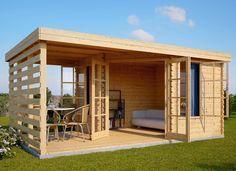 Summerhouse AISNE PLUS 15m² (5x3) 28mm