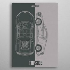 Audi detailed, premium quality, magnet mounted prints on metal designed by talented artists. Our posters will make your wall come to life. Audi R8, Mount System, Poster Prints, Posters, Good Company, Metal, Artwork, Design, Cars