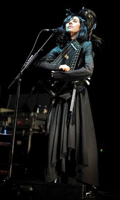 Polly Jean Harvey (born 9 October 1969) is an English musician, singer-songwriter, writer, poet, composer and occasional artist. Primarily known as a vocalist and guitarist, she is also proficient with a wide range of instruments including piano, organ, bass, saxophone, harmonica, and most recently, the autoharp.