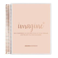 Imagine Metallic #RoseGold #ECnotebook, available in two sizes (7x9 or 8.5x11), and two paper types (dot grid or college lined)! #ErinCondren