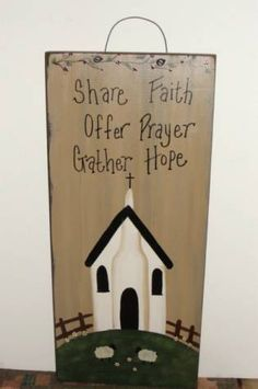 Share Faith...Offer Prayer...Gather Hope Wall Board