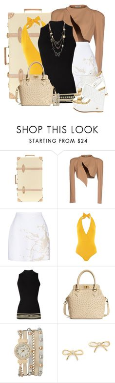 """""""Winter Vacations in Islands"""" by md-louber ❤ liked on Polyvore featuring Globe-Trotter, Thierry Mugler, Zimmermann, Lazul, Roberto Cavalli, Brooks Brothers, maurices, Kate Spade and Betsey Johnson"""