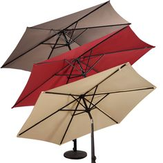 GOPLUS 9FT Patio Umbrella Patio Market Steel Tilt W/ Crank Outdoor Yard Garden…