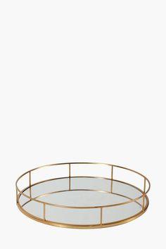 Metal Mirror Decor Tray - Decor Accessories - Shop Décor - Home Déco