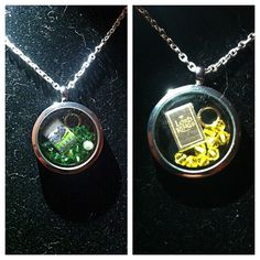 Hobbit and LOTR lockets from My Ruby Slippers on Craftster