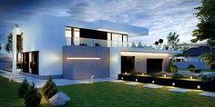 Projekt domu HomeKONCEPT 30 by HomeKONCEPT Modern Architecture House, Architecture Plan, Modern House Design, Flat Roof Design, Gable Roof Design, House Construction Plan, Living Room Styles, Minimalist Home, House Plans