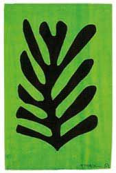 Black Leaf on Green Background (1952) is a painting by Henri Matisse. It was made by Matisse with Gouache and cut paper on paper. It is currently in the Menil Collection, Houston, Texas