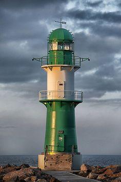 Warnemünde Westmole Lighthouse, Mecklenburg-Vorpommern, Warnemünde, Germany