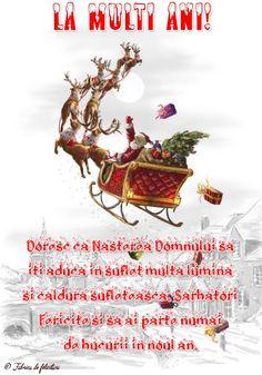 Doresc ca Nașterea Domnului să iți aducă în suflet multa lumina și căldura sufletească. Sărbători Fericite și să ai parte numai de bucurii în noul an. Holidays And Events, Beef, Poster, Pace, Party, Meat, Billboard, Steak