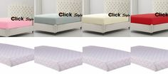 Breathable Foam Cot Bed Mattress with Free T200 Egyptian Cotton Cot Fitted Sheet
