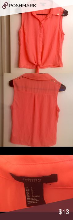 Selling this PRETTY ORANGE SLEEVELESS CROP on Poshmark! My username is: pinktequilas. #shopmycloset #poshmark #fashion #shopping #style #forsale #Forever 21 #Tops