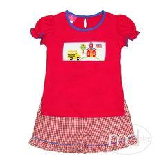 c05258ff303 Claire   Charlie School Bus Girls Shorts Set