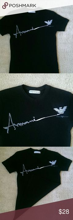 Shop Men's Emporio Armani Black size S Tees - Short Sleeve at a discounted price at Poshmark. Description: Emporii Armani shirt ready to me mailed out. Armani Shirts, Armani Black, Tee Shirts, Tees, Dress Brands, Emporio Armani, Man Shop, T Shirts For Women, Sleeve