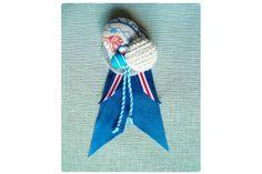 Covered Button & Ribbon Boutonniere by Yellow Papaya on hellopretty.co.za