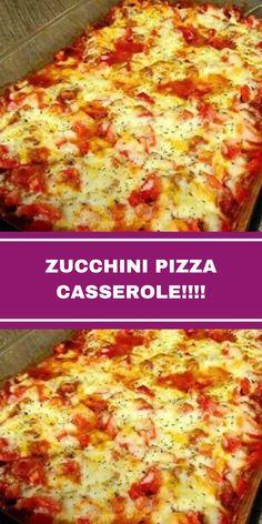 Zucchini Pizza Recipes, Shredded Zucchini Recipes, Chicken Zucchini Casserole, Zucchini Pizza Bites, Pizza Casserole, Chicken Parmesan Recipes, Casserole Recipes, Vegetable Recipes, Beef Recipes