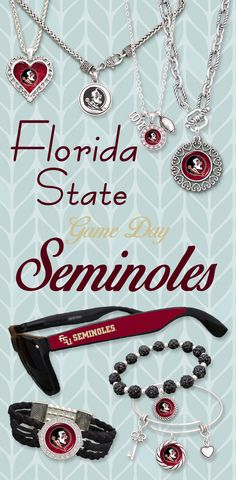 Florida State Seminoles Game Day Accessories by Charming Collectables! // Mix and match these styles and more!