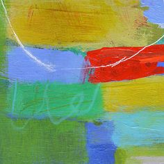 Modern Art Abstract Painting  Small Abstract Wood by AbbyCreek