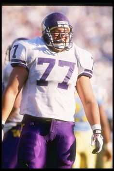 University of Washington Huskies player Olin Kreutz stands on the field  during game against the UCLA Bruins at the Rose Bowl in Pasadena California. 5124504f2
