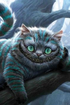 Concept art for the Cheshire Cat in Tim Burton's terrible Alice movie. The Cheshire Cat was the best part. Cheshire Cat Alice In Wonderland, Alice In Wonderland Party, Adventures In Wonderland, Cheshire Cat Tim Burton, Chesire Cat, Cheshire Cat Drawing, Alice Madness, Lewis Carroll, Cat Art