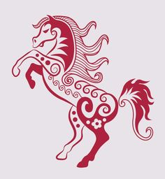 line art animal patterns vector material