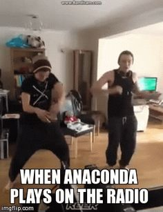 When anaconda plays on the radio