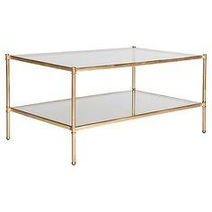 Ruby 2-Shelf Coffee Table, Gold $359.00