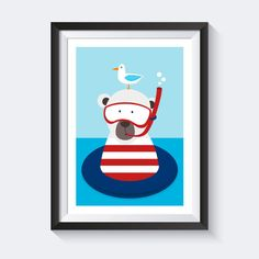 Uberlegen Poster Maritim  A4 Poster Kinderzimmer Bild Kinder Poster Maritim   U003e Die  Badesaison Hat
