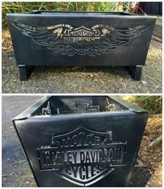 Harley Davidson  fire pit ..