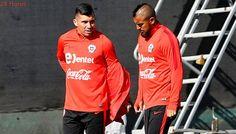Arturo Vidal y Gary Medel abandonaron entrenamiento de la 'Roja' por molestias físicas