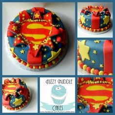Superman Cake By FuzzyMuddleCakes on CakeCentral.com