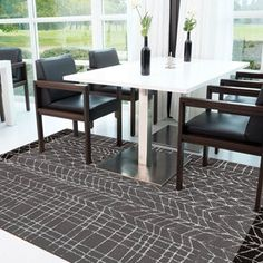 Arte Espina Moire Rugs 4443 61 - Free UK Delivery - The Rug Seller