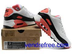 buy popular 74984 1e8ad Vendre Pas Cher Homme Chaussures Nike Air Max 90 (couleur blanc,noir,rouge,gris)  en ligne en France.