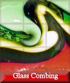combing, kiln forming, glass fusing projects, combing rod, glass combing
