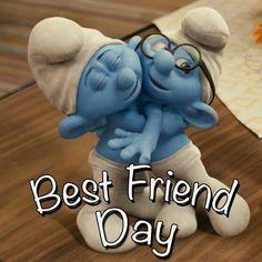 Best Friend Day Smurfs. I love Smurfs!!!