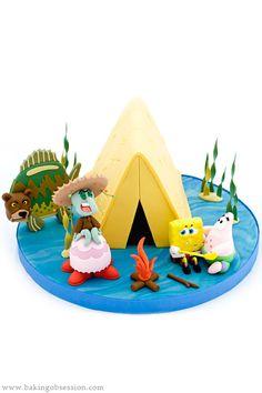SpongeBob Cake – Camping Episode – Sea Bear Attack