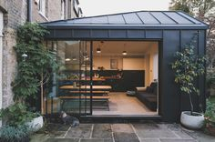 Zinc clad rear extension to double fronted Victorian terrace House Extension Design, Roof Extension, House Design, Kitchen Extension Exterior, Extension Ideas, Hotel Lounge, Victorian Terrace, Victorian Homes, Mad About The House