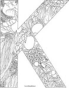 Letter K With Plants Coloring Page From English Alphabet Category Select 26514 Printable Crafts Of Cartoons Nature Animals