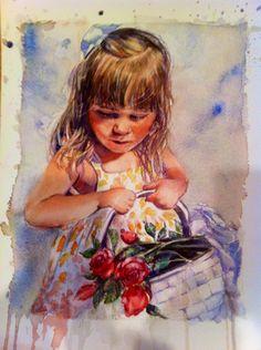 Reagan- Joneile Emery, watercolor.  Joneilesart.blogspot.com