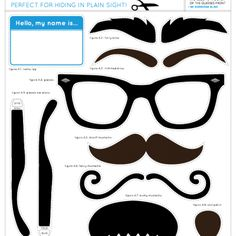 Free Disguise Printables for Kids Fun or Party Photo Booth