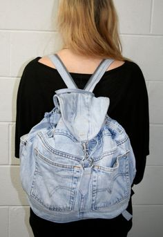 ReSew Denim Backpack by UsedHouseofVintage on Etsy, $28.00