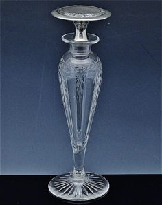 c1920 Art Deco Alvin Sterling Silver Cut Glass Perfume Bottle