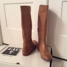 Frye boots Tan tall Frye boots worn 3 or 4 times Frye Shoes Winter & Rain Boots