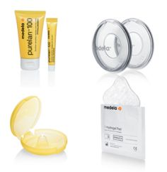 Though breastfeeding is an important part of a mother's and her baby's life, it brings along certain difficulties at time. Post pregnancy, nursing mothers often complain about problems like latching pain, cracked nipples, high milk supply etc. To keep such problems at bay, Medela offers breast care products for the convenience of nursing mothers. Medela's breast care products promise to give mothers complete relief from breastfeeding related issues.