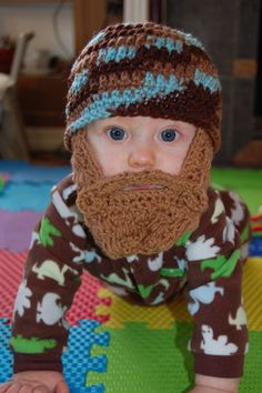 Baby Beard Beanies.  Truth is indeed stranger than fiction
