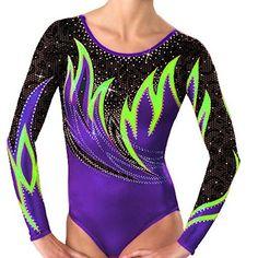 Demi Mystique Gymnastics Competition Leotards Rhinestone…