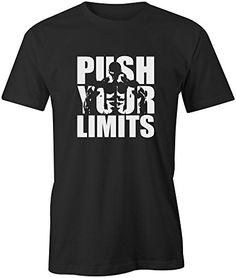 Mens MMA T Shirt Gym Bodybuilding Motivation Workout Clothing - Push Your Limits, S, Black