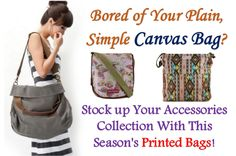 Bored of your plain, simple canvas bag?
