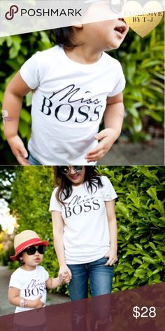 Miss Boss Toddler Tee Miss Boss Toddler tee. Made of 100% ringsprung cotton. Also available for adults in my closet. T&J Designs Shirts & Tops Tees - Short Sleeve